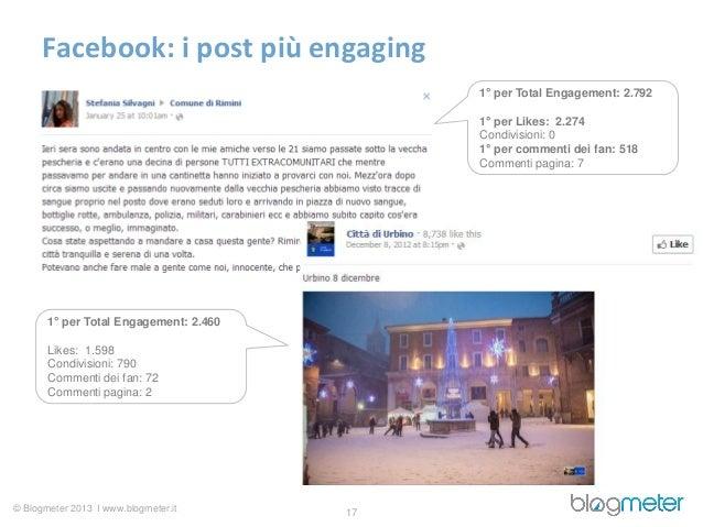 Facebook: i post più engaging                                             1° per Total Engagement: 2.792                  ...