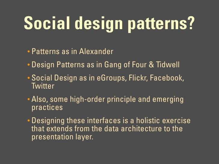 Designing Social Interfaces - IA Summit 09 Talk Slide 3