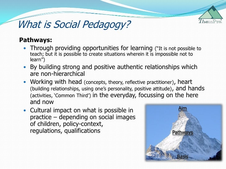 social pedagogy Master in social and cultural pedagogy at arizona state university / usa this master is the first of its kind in north america and focuses on learning beyond schooling based on social and cultural pedagogy the course offers participants a theoretical understanding of the subject matter, strategies and tools for conducting research and.