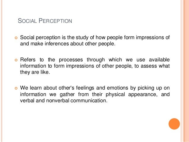 A Fundamental Explanation of Social Perception With Examples