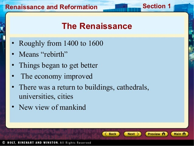 reformation renaissance and fourteenth century Middle ages – renaissance – reformation  the collapse of the roman empire in the fifth century ad and the beginning of the renaissance in the fourteenth .