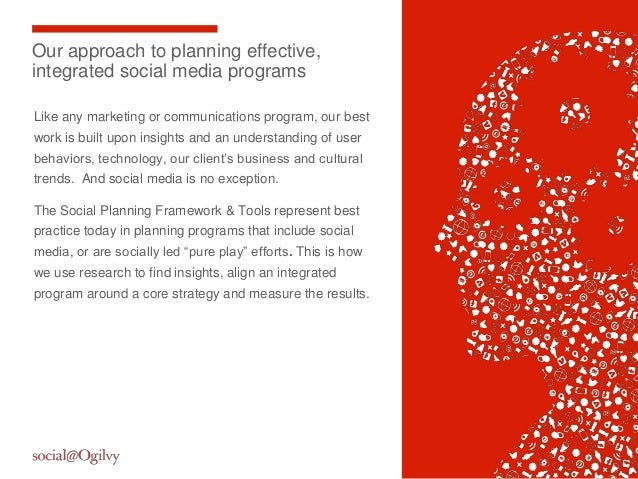2Our approach to planning effective,integrated social media programsLike any marketing or communications program, our best...