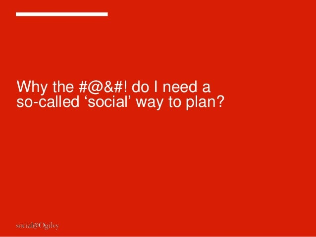 """Why the #@&#! do I need aso-called """"social"""" way to plan?"""