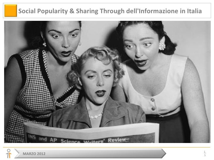 Social Popularity & Sharing Through dellInformazione in Italia                                                            ...