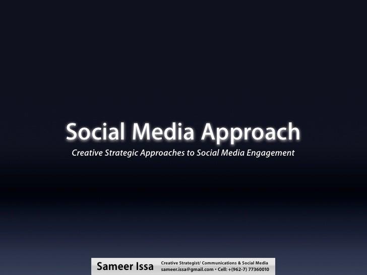 Social Media Strategic Creative Approach