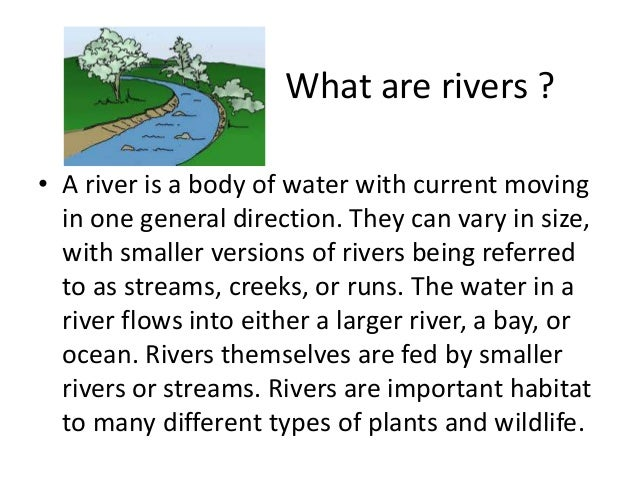 importance of rivers essay