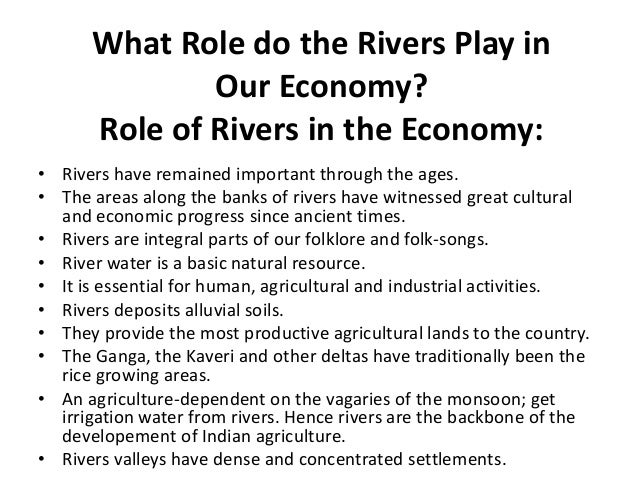 Importance Of Rivers - Importance of rivers