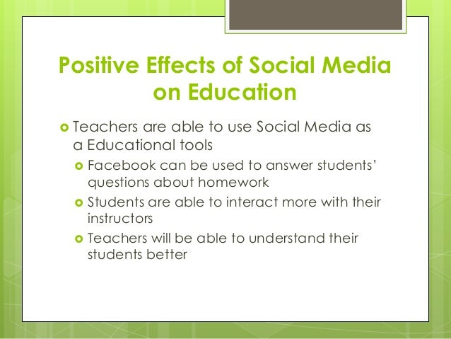 negative effects of facebook on students