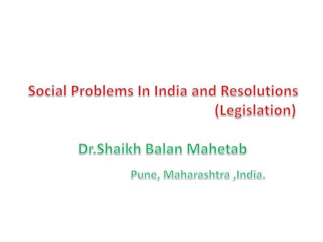 Social problem and social legislation (eBook)