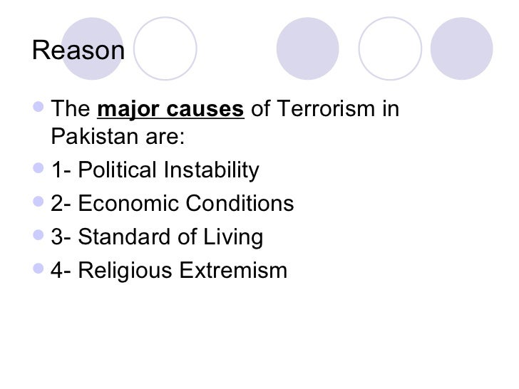 essay on causes of terrorism While the modern world grapples with the effects of terrorism, it needs to first of all understand the underlying causes why would a civilized population.