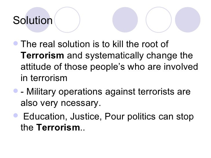 solution against terrorism essay Essay writing assistance and essay essay on a solution against terrorism basics it will help you organize your thoughts for your report kulakowski bianca.