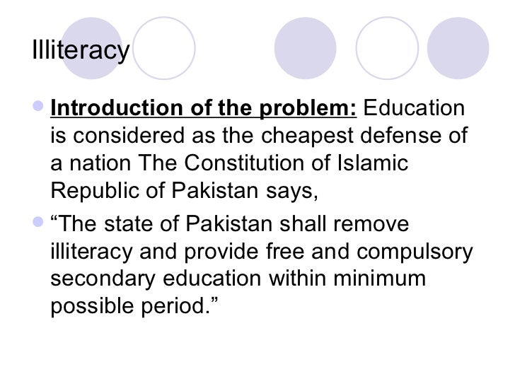 essay on education problems in pakistan Women's education in pakistan is a fundamental right of every female citizen, according to article thirty-seven of the constitution of pakistan, but gender.