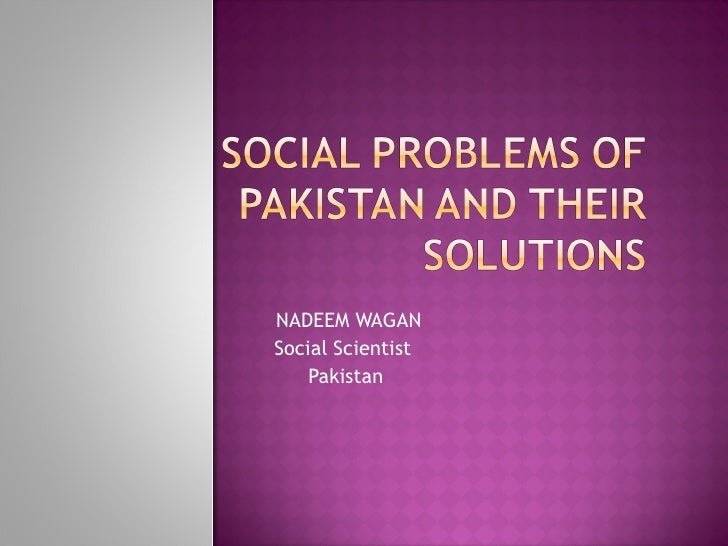 essay on social problems of pakistan