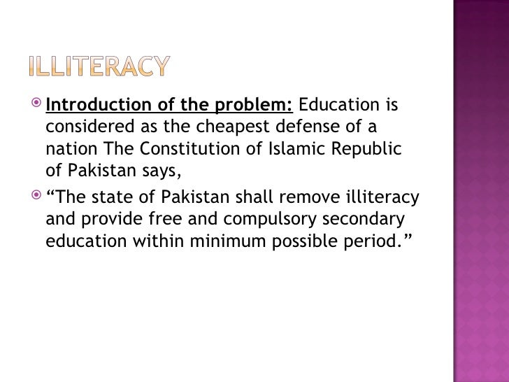 Literacy in Pakistan