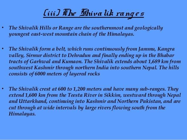 The Shivalik Ranges  Shivalik Hills A view of Shivalik Range Kedarnath (Shivalik)