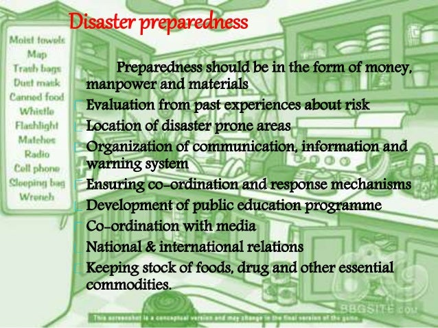 simple essay on disaster management