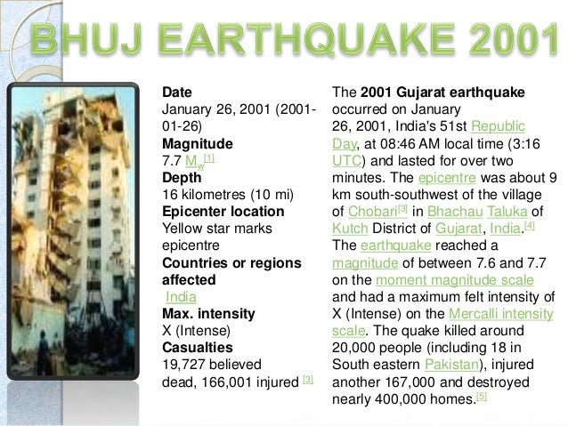 case study of bhuj earthquake 2001