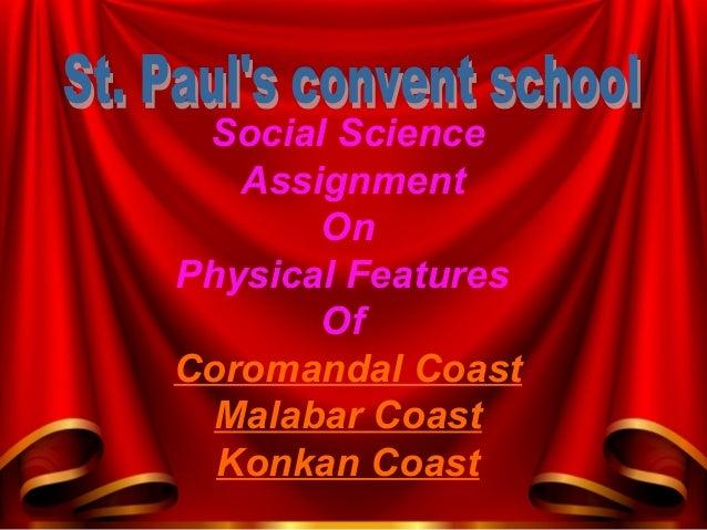 Social Science Assignment On Physical Features Of Coromandal Coast Malabar Coast Konkan Coast