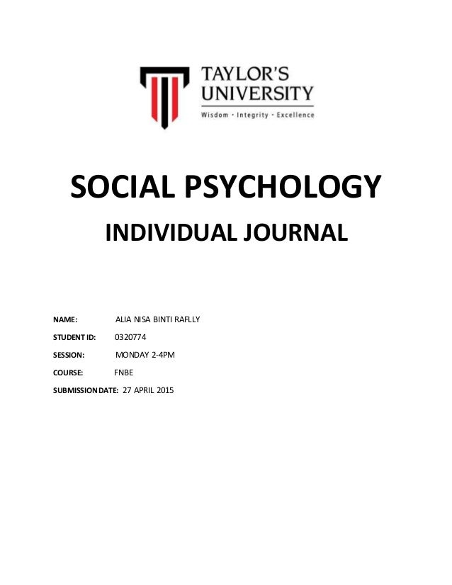 Introduction To Social Psychology - Lecture notes - Exam 1