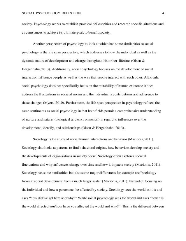 Thesis statement psychology research paper