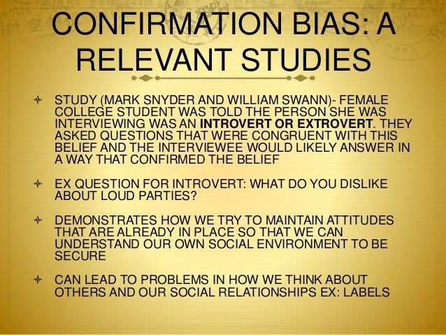 a look at the concept of hindsight bias from psychologists point of view Trading psychology concepts: confirmation and hindsight bias http  trading psychology concepts:  and to look at the evidence from that point of view.