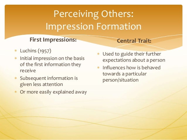 First impression (psychology)
