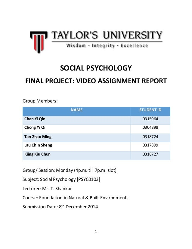final psychology report The first progress report should be submitted within a year after the start  the  final evaluation will be noted in the ku loket.