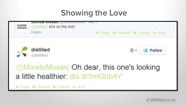 Showing the Love #SMMWebinar