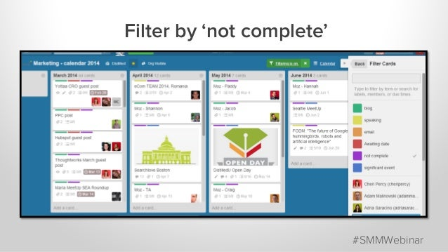 Filter by 'not complete' #SMMWebinar