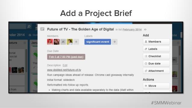 Add a Project Brief #SMMWebinar