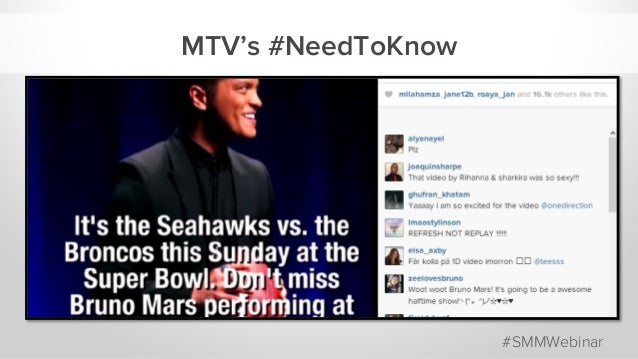 MTV's #NeedToKnow #SMMWebinar