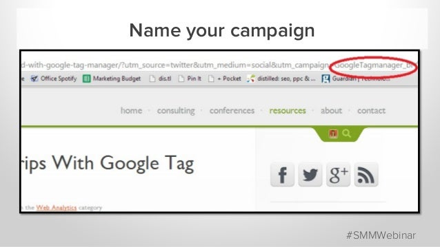 Name your campaign #SMMWebinar