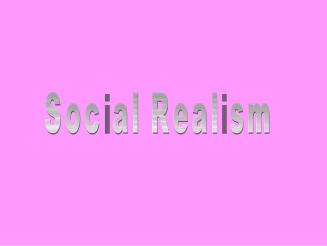 Social Realism is also known as 'Socio-Realism'It is an artistic movement which is expressed by visual and other realist a...