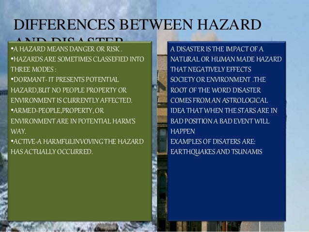 Differentiate Natural Hazard From Human Made Hazard