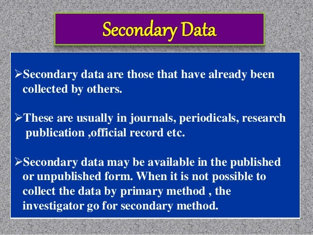 Merits Quick and cheap source of data Wider geographical area Longer orientation period Leading to find primary data Demer...
