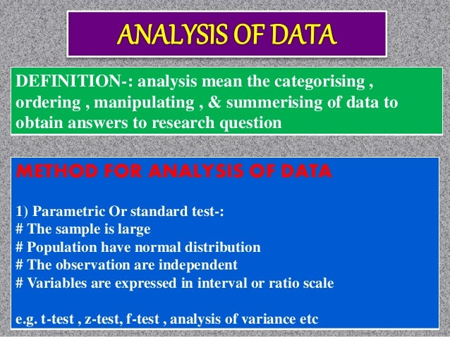 processing and analysis of data in research methodology pdf
