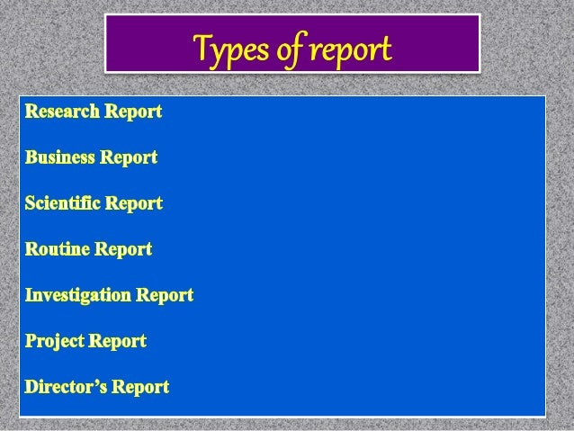 Custom report writing and presentation of data ppt