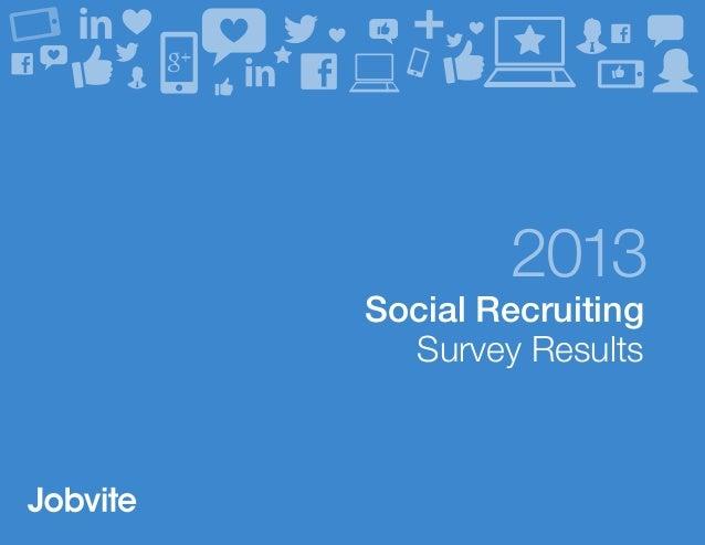 2013 Social Recruiting Survey Results
