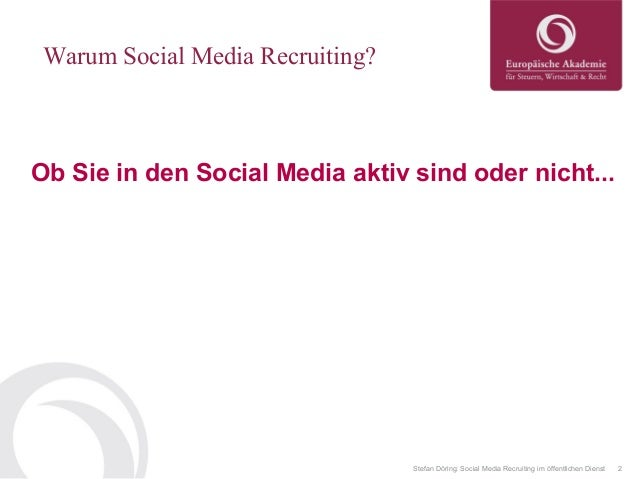 Social Media Recruiting im öffentlichen Dienst Slide 2