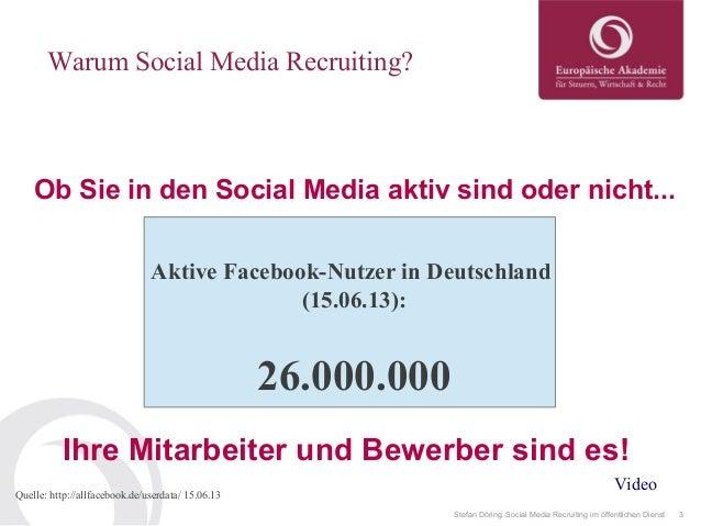 Social Media Recruiting im öffentlichen Dienst Slide 3