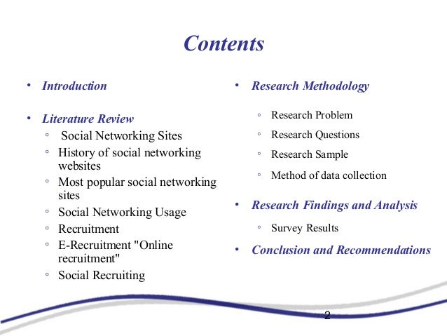literature review on social networking websites Literature review on digital marketing  literature review measuring social  social networking sites can be described as networks of friends for social or.