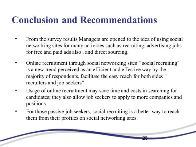 social networking sites and online recruitment