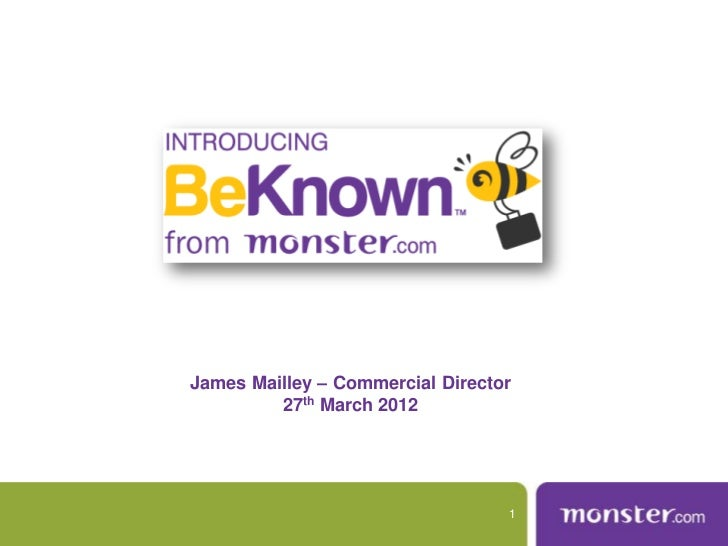James Mailley – Commercial Director         27th March 2012                                  1