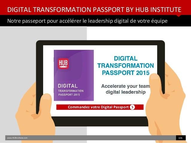 DIGITAL TRANSFORMATION PASSPORT BY HUB INSTITUTE Notre passeport pour accélérer le leadership digital de votre équipe Comm...