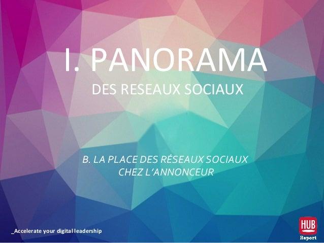 _Accelerate your digital leadership B. LA PLACE DES RÉSEAUX SOCIAUX CHEZ L'ANNONCEUR I. PANORAMA DES RESEAUX SOCIAUX