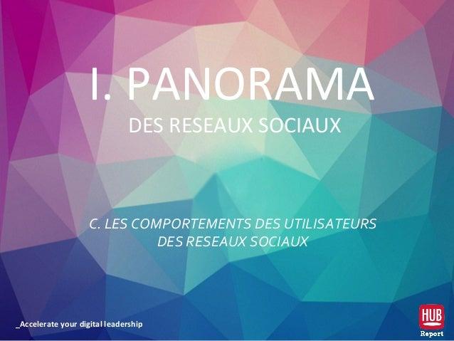 _Accelerate your digital leadership C. LES COMPORTEMENTS DES UTILISATEURS DES RESEAUX SOCIAUX I. PANORAMA DES RESEAUX SOCI...