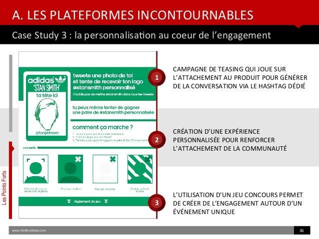A. LES PLATEFORMES INCONTOURNABLES Case Study 3 : la personnalisaton au coeur de l'engagement www.HUBinsttute.com 36 CAMPA...