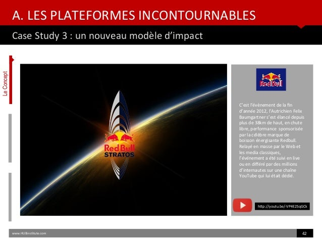 A. LES PLATEFORMES INCONTOURNABLES Case Study 3 : un nouveau modèle d'impact www.HUBinsttute.com 42 C'est l'évènement de l...