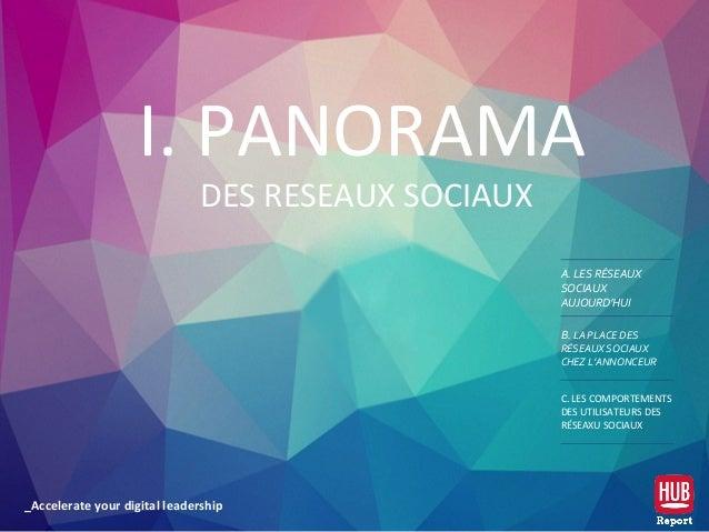 _Accelerate your digital leadership I. PANORAMA DES RESEAUX SOCIAUX A. LES RÉSEAUX SOCIAUX AUJOURD'HUI B. LA PLACE DES RÉS...