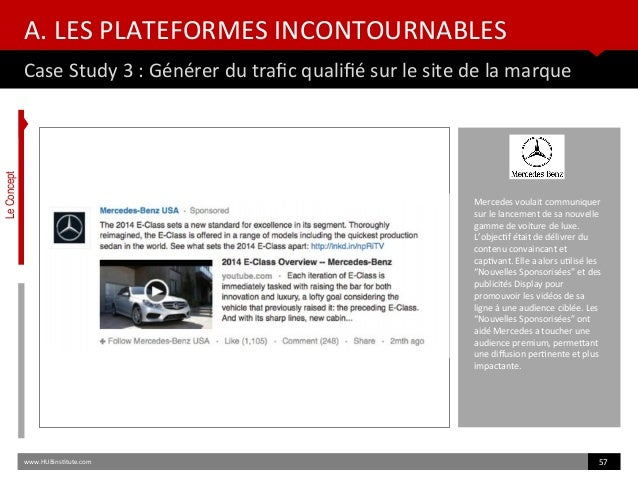 A. LES PLATEFORMES INCONTOURNABLES Case Study 3 : Générer du trafc qualifé sur le site de la marque www.HUBinsttute.com 57...